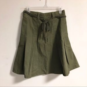 H&M Green Khaki Skirt